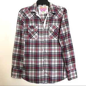 Derek Heart Cotton Plaid Buttondown Shirt